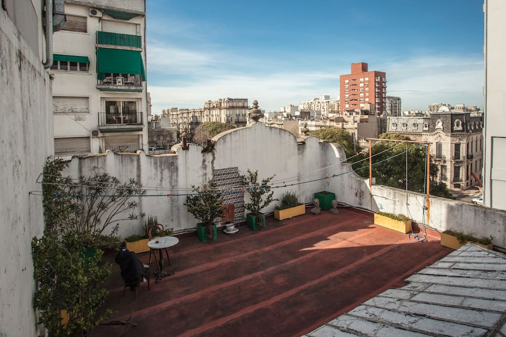 Terrace with view over San Telmo