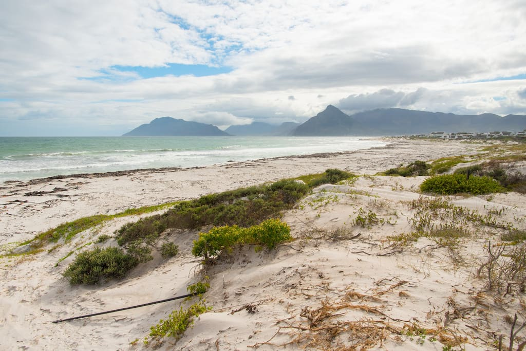 View from the beach, north towards Chapman's Peak and Hout Bay