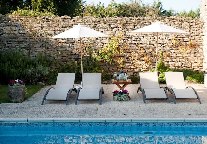 Grande maison avec piscine - Saint-Hilaire-de-Brens - Haus