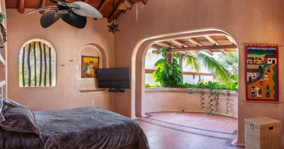 open air master bedroom top floor