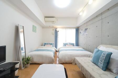 3min walk Nankai Namba St/6min Kuromon/pocket WIFI - Naniwa Ward, Osaka - Apartment