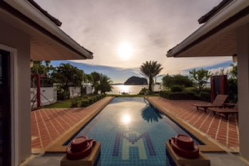 Villa view of Pool and Andaman Sea