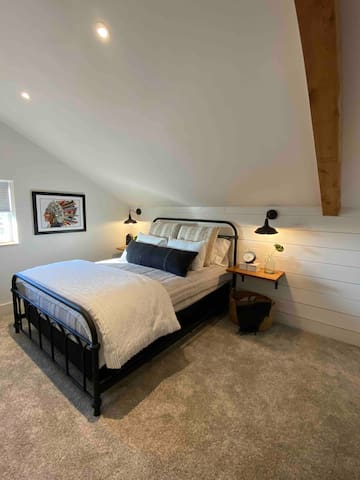 Master bedroom with black out shades