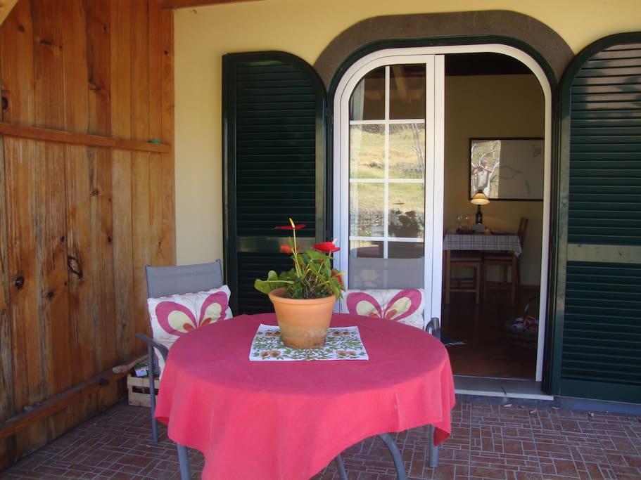 Terrace of the cottage VERDELHO