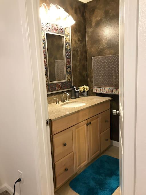 Private powder room