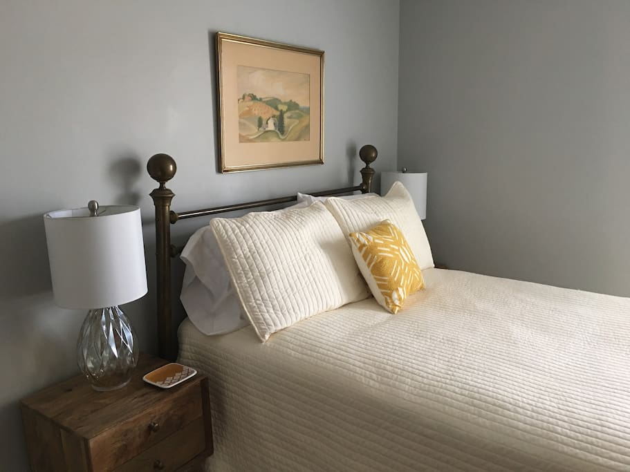 Upstairs Bedroom with Full Size Bed — private for guest use
