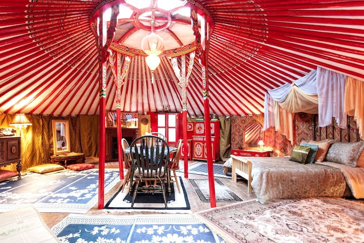 Mongolian Yurt: Glamping with Pool in Foothills