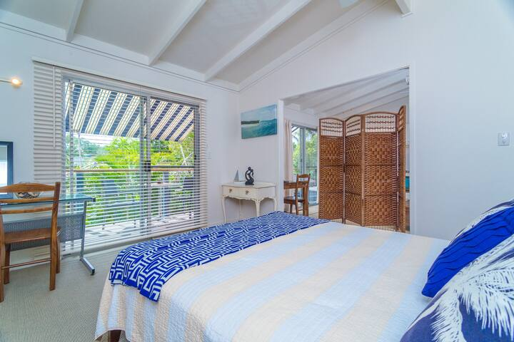 Large bedroom with plenty of natural light