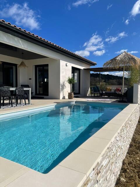 Villa de vacances avec piscine Lussan(proche Uzes)