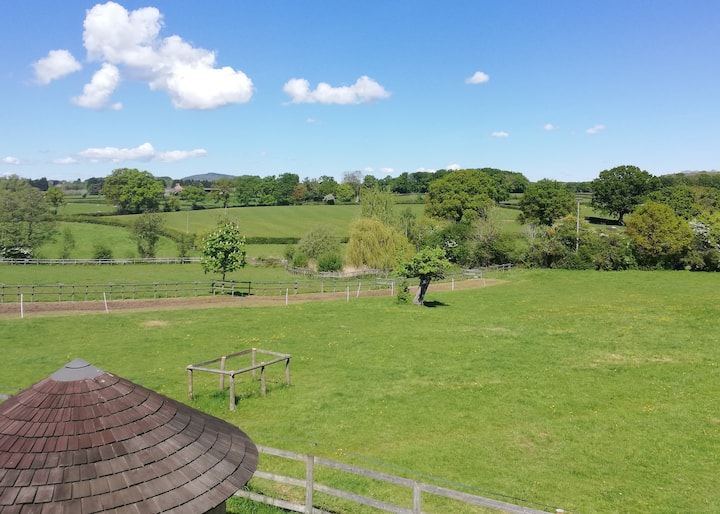 Room with a stunning view of rural Worcestershire