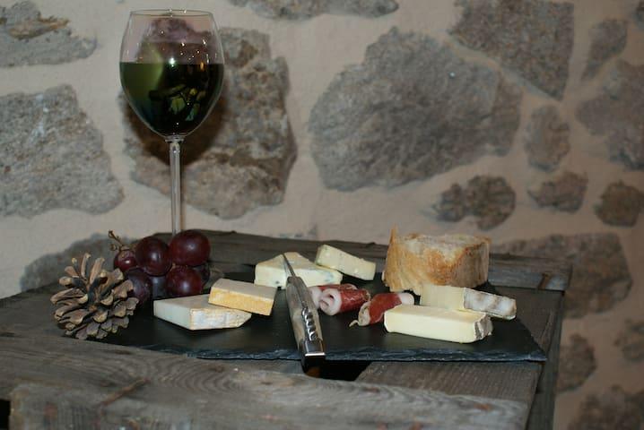 Exemple d'assiette de fromage pouvant être mise à disposition