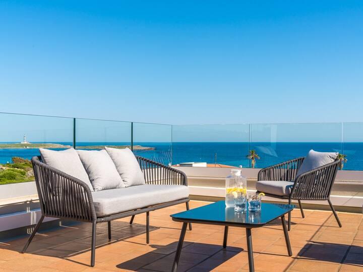 Designer villa with fantastic sea views, Menorca
