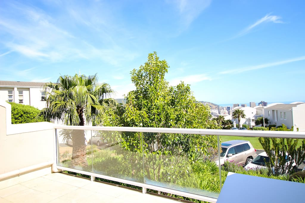 Spacious balcony off the lounge with great views