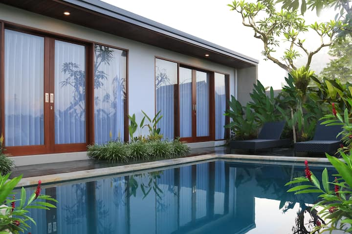 wos ubud private villa, 2 bedroom rice field view