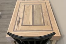 Custom table for two built in house