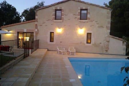 maison  CARACTERE  piscine chauffée - Roumens