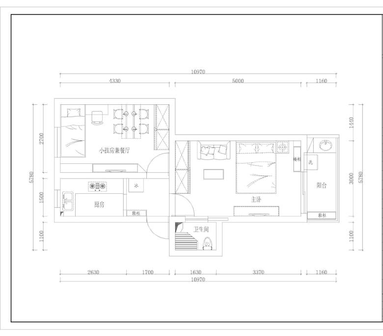 整套客房总平面图: