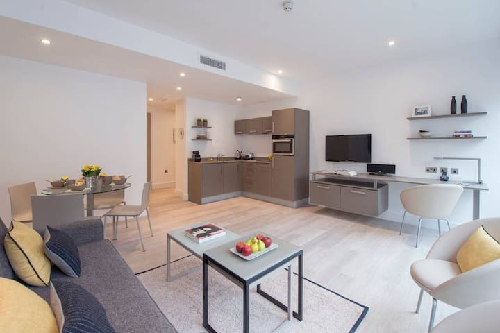 Our large living and kitchen areas are perfect for longer stays wanting more space