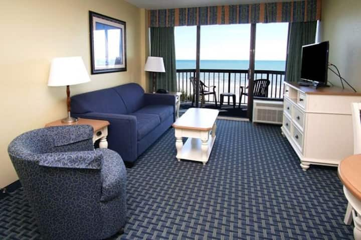 Compass Cove Resort 366:  1 Bedroom Ocean Front Condo with Pools, Hot Tubs, Tiki Bar, and More