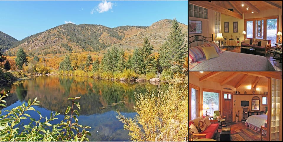 Serene & Beautiful Colorado Cottage on the Creek - Colorado Springs - Houten huisje