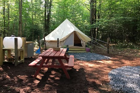 "Charming Bell Tent ""Glampsite"" in the Woods"