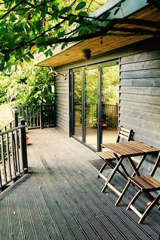 Luxury Lodge set into trees in Kingswood Surrey