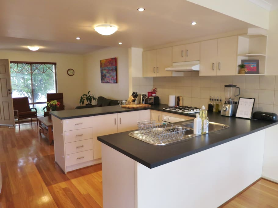 You can share the fully equipped kitchen.