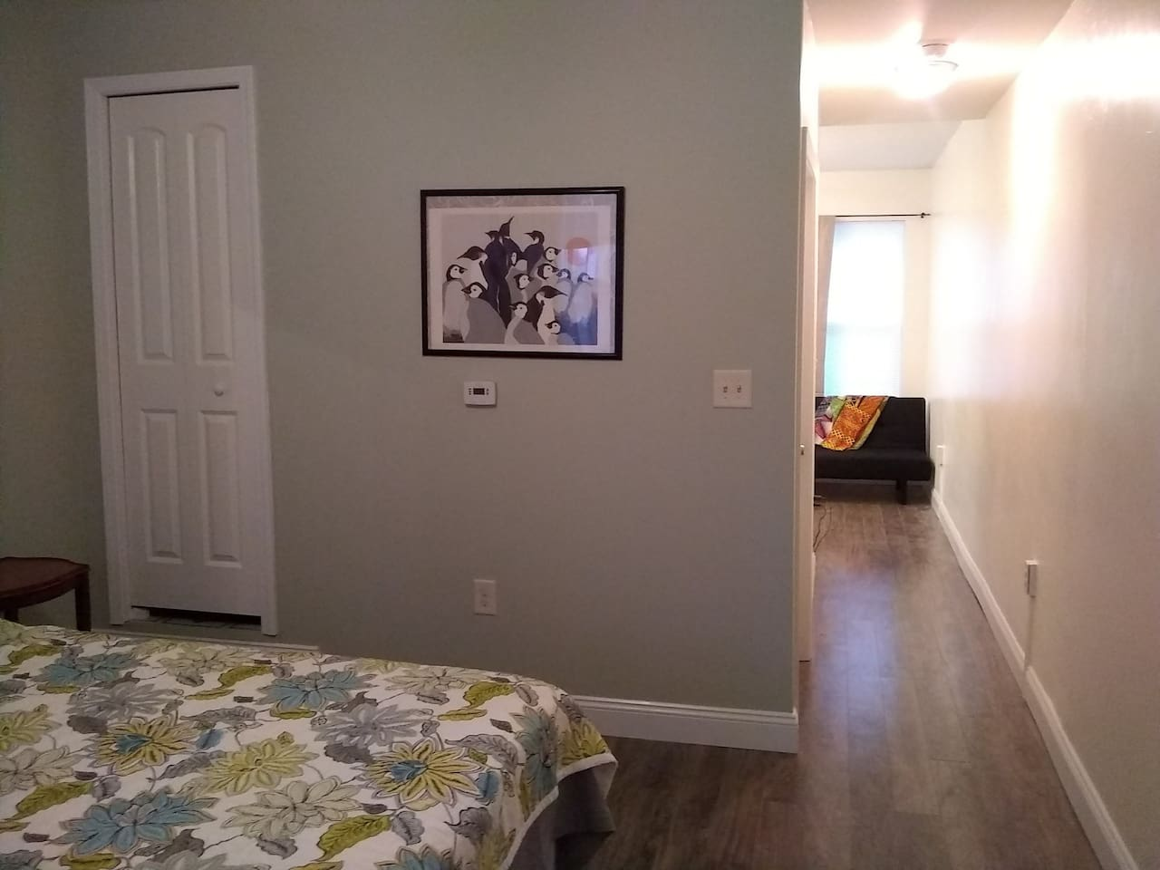 Closet and hallway