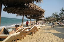 The An Bang Beach is just 3 minutes walking