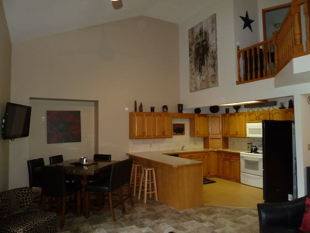 Open Kitchen / Dining / Balcony