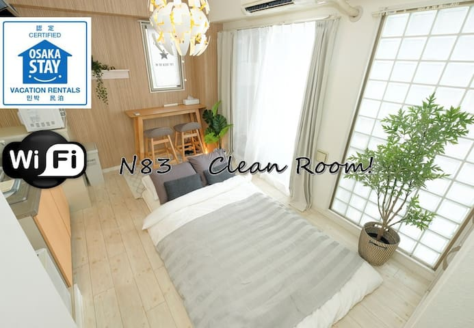 N83★Private Room★Near Namba★New Open★
