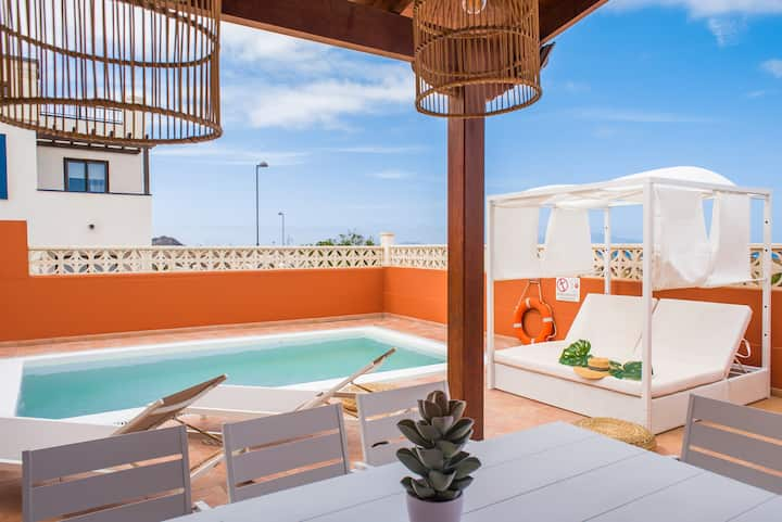 Corralejo Villa Atlantic Ocean - Pool, BBQ & Wifi