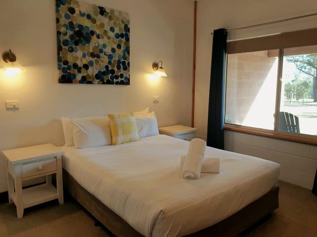Queen bedroom with property views