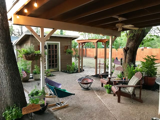 We have the perfect shaded area for relaxation and hanging out.