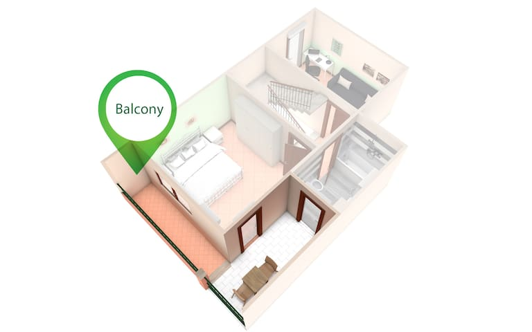 Balcony highlighted