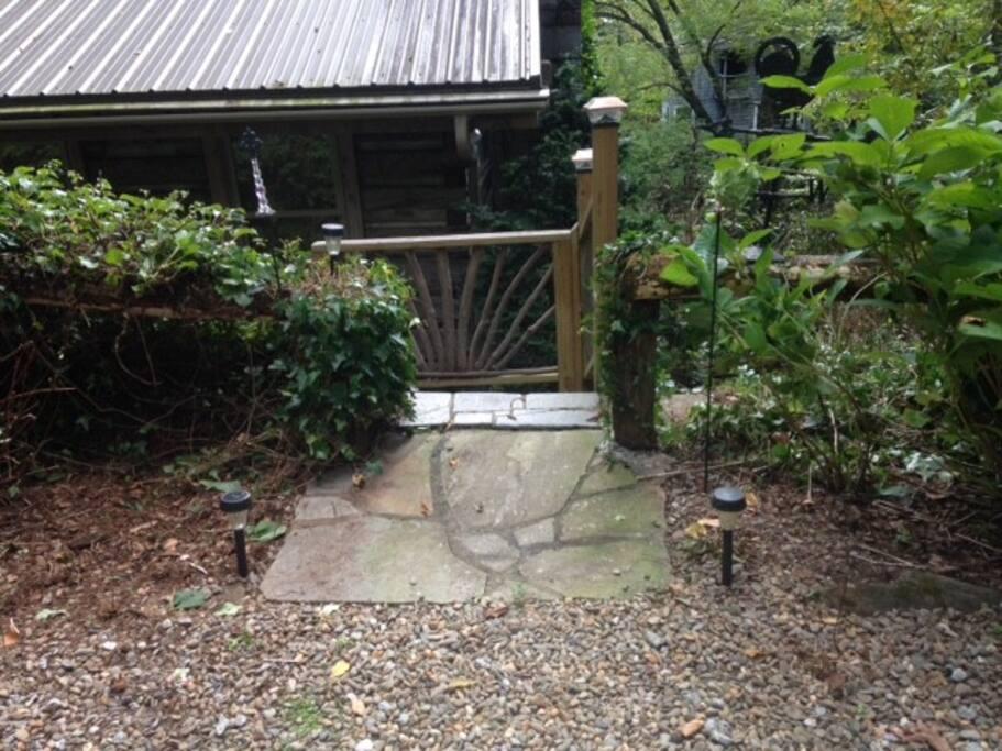 Gated entrance to 31 Vinca Lane