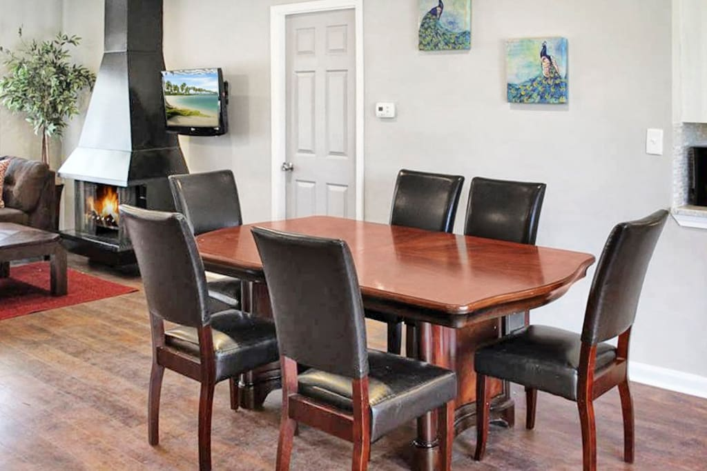 Dining table fits 6 people