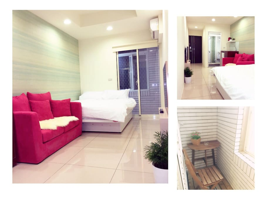 Classic double with balcony apartments for rent for Balcony translate