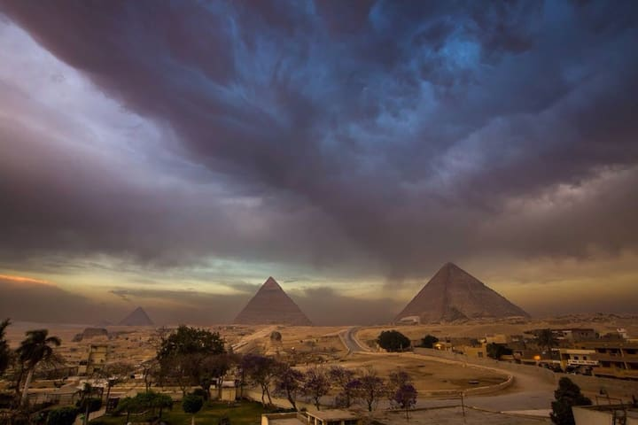 New cozy studio pyramids view 30$ - Giza - อพาร์ทเมนท์