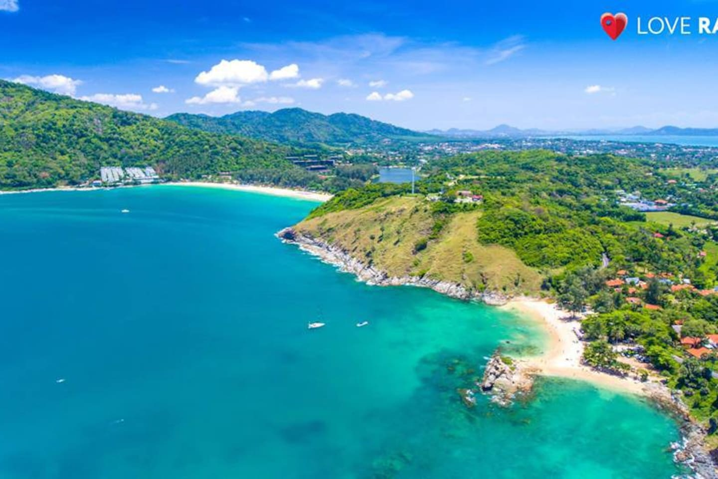 Nai harn beach and Ya Nui beach, aerial view. Just a leisurely 5 minute drive from your villa.