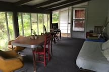 Private Screened Porch for relaxing