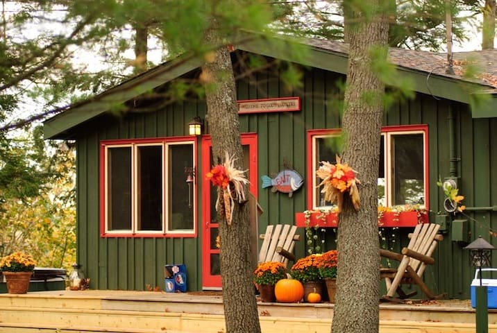 Rustic Luxe. Muskegon River Cabin Compound.