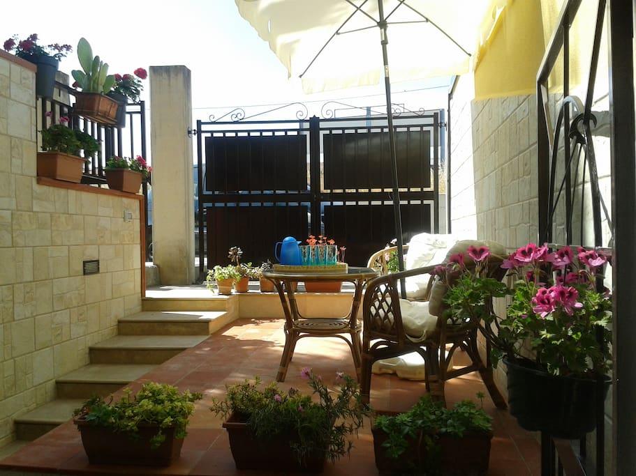 terrazzo fiorito-zona living