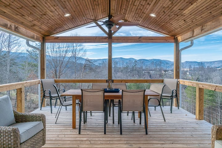 Mountain and lake view home within 4 miles of I-75