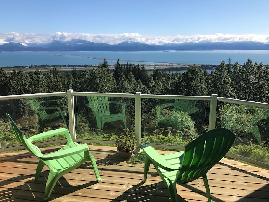 Your private deck overlooking famous Kachemak Bay & Homer Spit