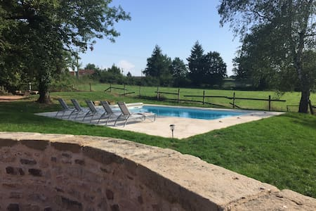 Beautiful farm house with private pool, Burgundy.