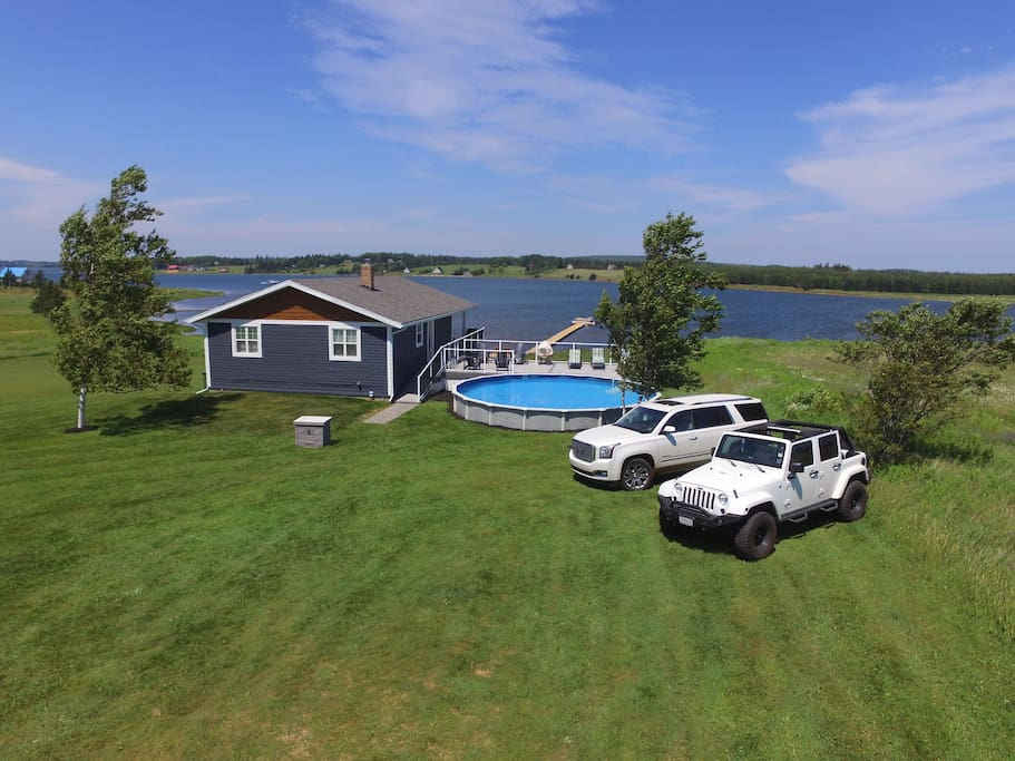 Completely Renovated. This Waterfront Paradise now looks beautiful inside and out.