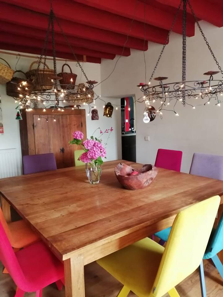 Vétheuil : jolie maison entre campagne & jardin