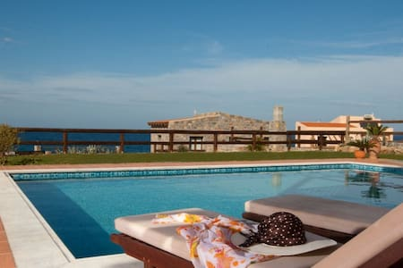 Relaxing 3 BD Villa,Seaview with private Pool (E) - Milatos