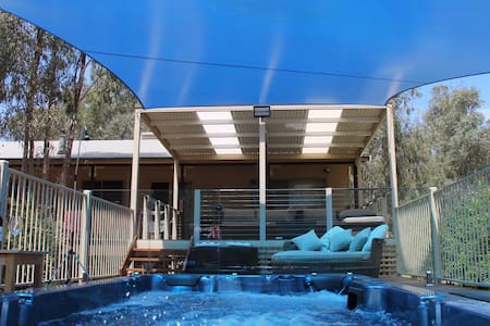Wharparilla country house with heated swim spa.